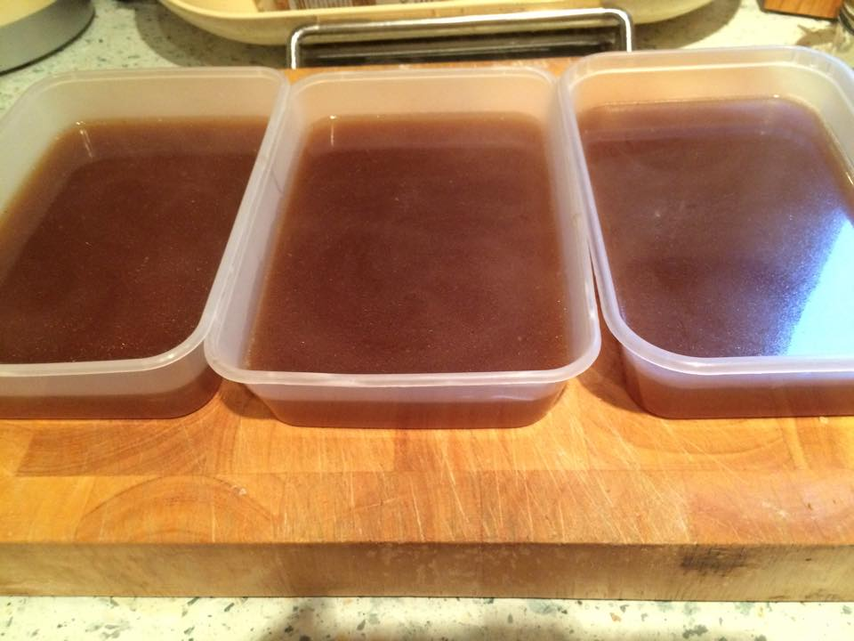 Homemade Beef Stock from Bones.